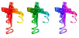 Three different bows Stock Photos