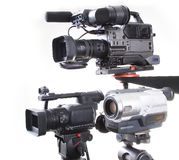 Three different camcorders Royalty Free Stock Image