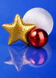 Three different Christmas toys Royalty Free Stock Photo