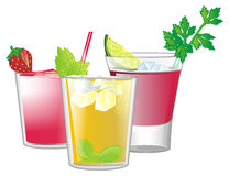 Three different cocktails Stock Photo