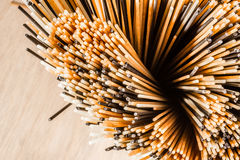 Three Different Colours of Spaghetti from Above Royalty Free Stock Image