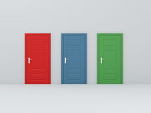 Three Different Door Stock Photos