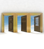 Three different doorway your of life Royalty Free Stock Images