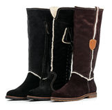 Three different female winter boots Royalty Free Stock Image
