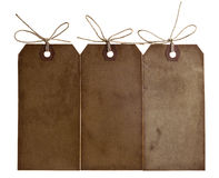 Three different grunge paper tags Stock Image