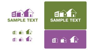 Three different houses. In two colors Royalty Free Stock Image