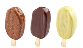 Three different Ice creams Royalty Free Stock Images