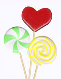 Three different lollipops stock illustration