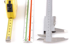 Three different measuring tools Stock Photography