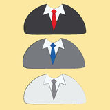 Three different neckties Royalty Free Stock Photo