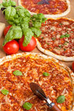 Three Different pizzas Royalty Free Stock Images