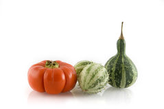 Three different pumpkins Stock Images