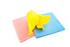 Three different rags Stock Photography