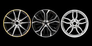 Three different rims Royalty Free Stock Photo