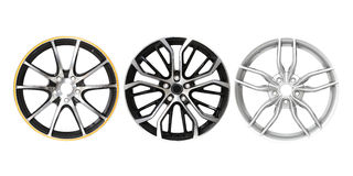 Three different rims Royalty Free Stock Image