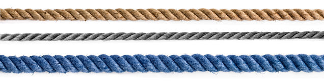 Three different ropes Stock Image
