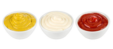 Three different sauces Stock Image