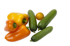 Three different sorts of vegetables Stock Images