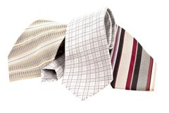 Three different ties Royalty Free Stock Image