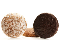 Three different traditional german lebkuchen Stock Photos