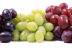 Three different types of grapes Royalty Free Stock Images