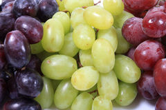 Three different types of grapes Stock Photo