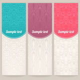 Three different vintage patterns Stock Images