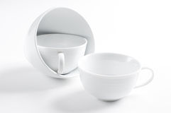 Three different white cups Royalty Free Stock Photography