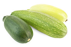 Three different zucchini Stock Images