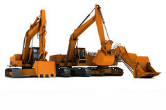 Three diggers Stock Photography