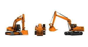 Three diggers Royalty Free Stock Photo