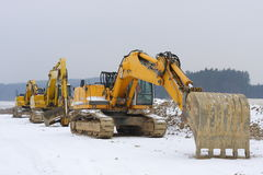 Three diggers Royalty Free Stock Photography