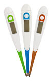 Three digital thermometers Royalty Free Stock Photography