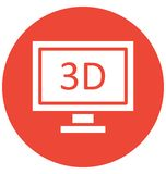 Three dimension monitor Isolated Vector Icon which can easily modify or edit stock illustration