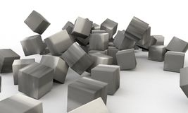Three dimensional abstract object concrete wall Stock Photography
