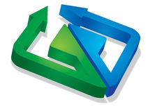 Three-dimensional Arrow Signs Royalty Free Stock Image
