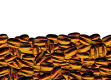Background from brown grains of coffee Royalty Free Stock Photography