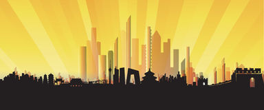 Three-dimensional Beijing Skyline Stock Photo