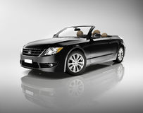 Three-dimensional Black Convertible Sport Car Royalty Free Stock Images