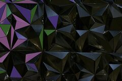 Three-dimensional black geometric background