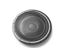 Three dimensional black speaker Stock Photography