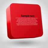 Three-dimensional box. stock illustration