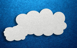 Three dimensional card design with fluffy clouds Royalty Free Stock Photo