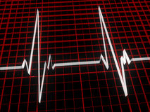 Three dimensional cardiogram Stock Photos