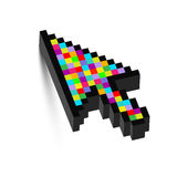 Three Dimensional colorful arrow Stock Photos