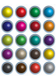 Three dimensional colorful buttons Stock Images