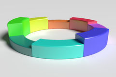 Three-dimensional colorful diagram Royalty Free Stock Photography