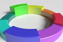Three-dimensional colorful diagram Stock Photo