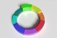 Three-dimensional colorful diagram Stock Images
