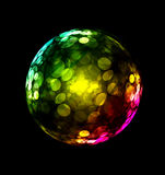 Three-dimensional colorful sphere design. Aka bubble soap on black royalty free illustration